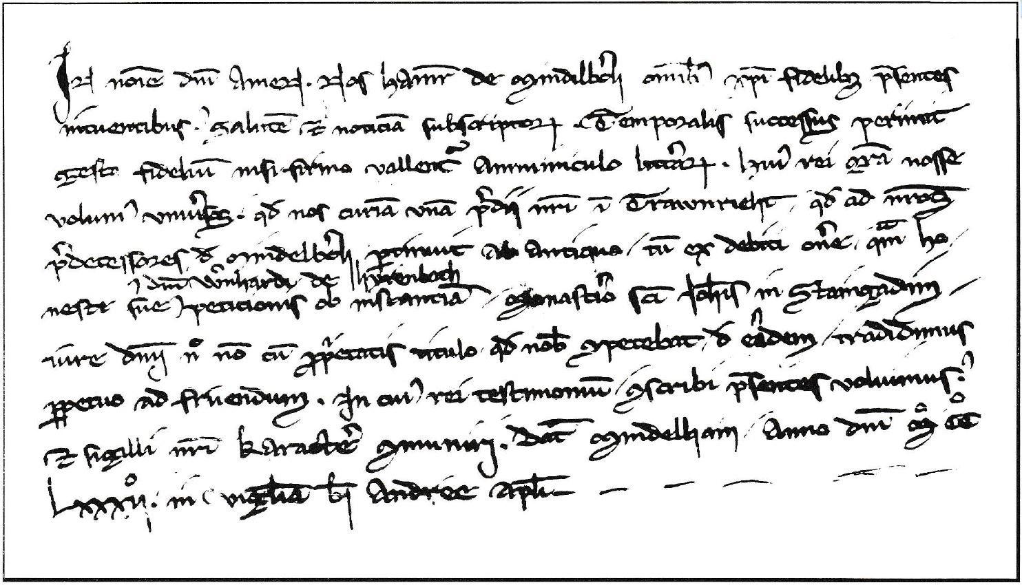 Urkunde Traunried